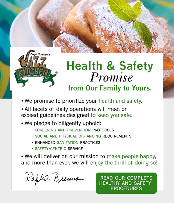 Health and Safety Promise from our family to yours.  Click to read our health and safety procedures.