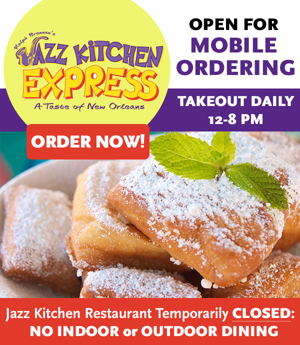 Welcome back to Jazz Kitchen and Jazz Kitchen Express.  Click for details.