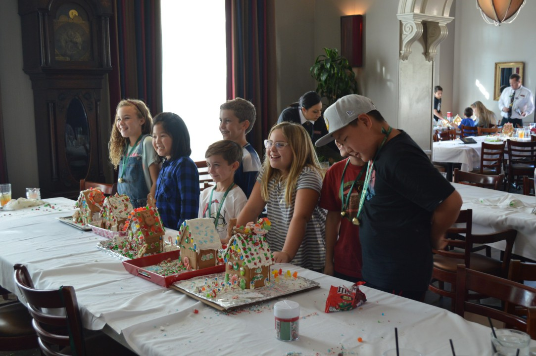 Children with Gingerbread Houses