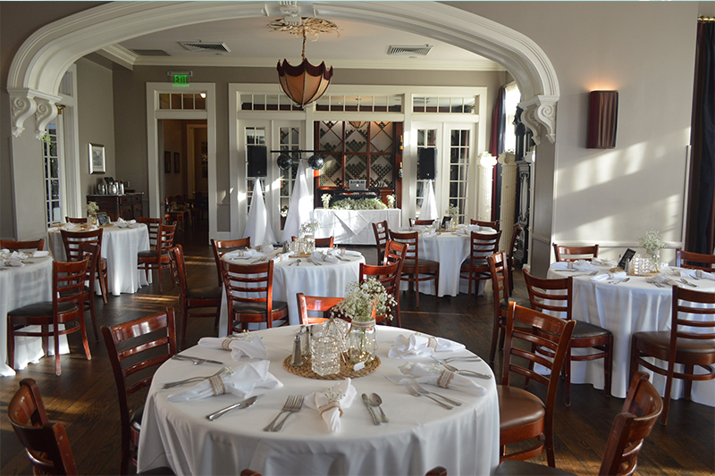 Parlor Room setup for private party at Jazz Kitchen