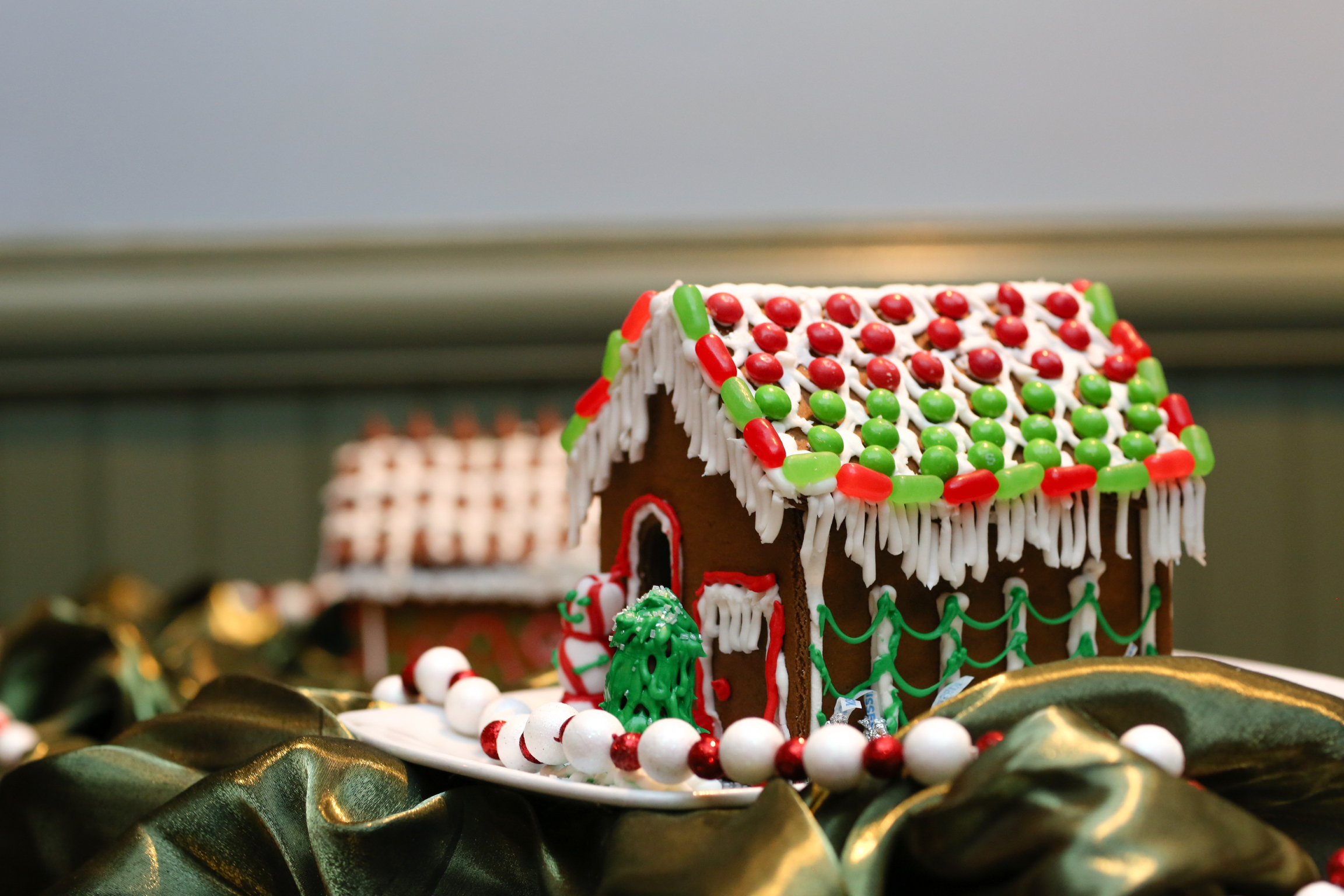 Detailed Close-Up of Gingerbread House
