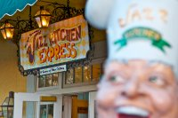 Jazz Kitchen Express sign and statue