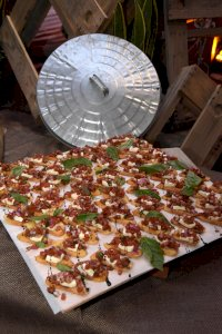 Bruschetta Display for Themed Private Event