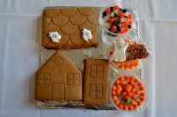 Haunted Gingerbread House pre-building