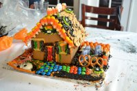 Completed Haunted Gingerbread House