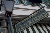 Jazz Kitchen street lamp and sign